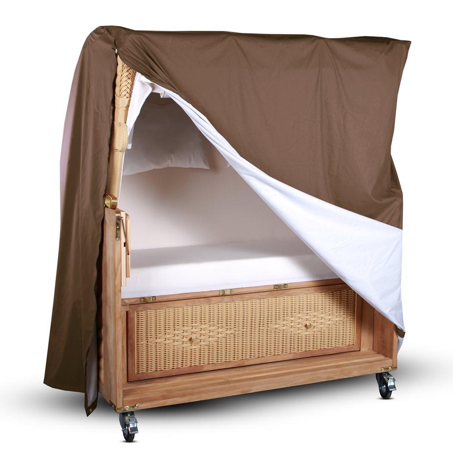 atmungsaktive strandkorb abdeckhaube korb schutzh lle schutzplane abdeckung ebay. Black Bedroom Furniture Sets. Home Design Ideas