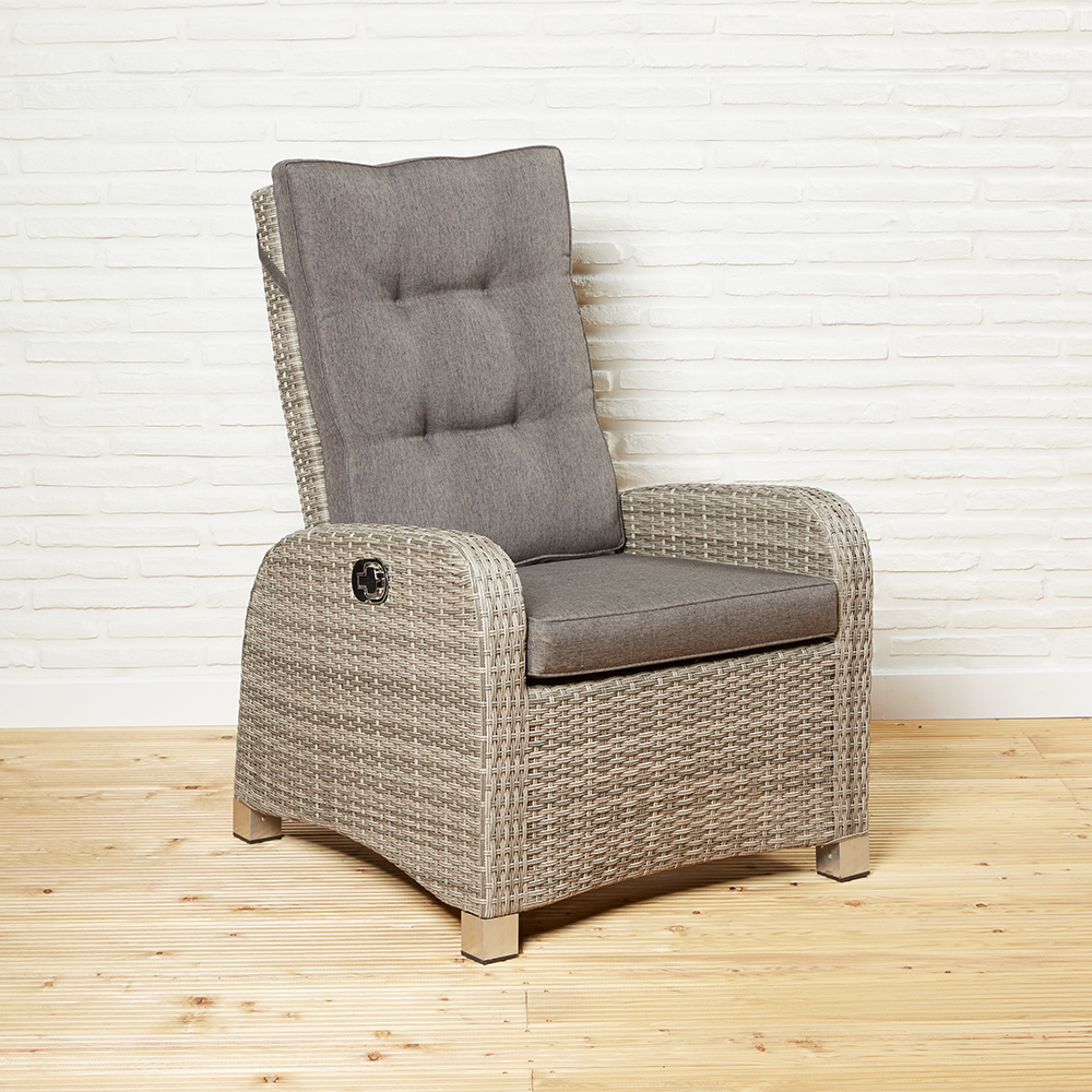 gartensessel rabida champagner geflecht gartenm bel gartenstuhl outdoor ebay. Black Bedroom Furniture Sets. Home Design Ideas