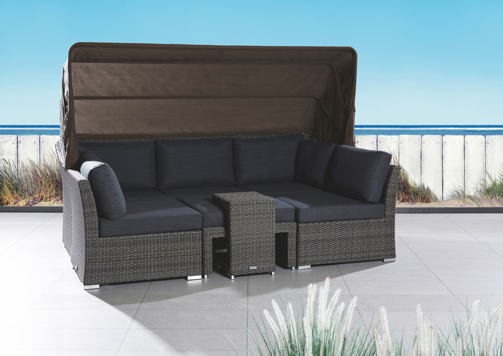 gartensofa mit sonnendach de63 kyushucon. Black Bedroom Furniture Sets. Home Design Ideas