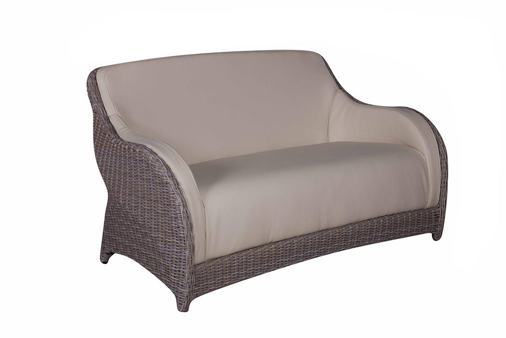 sofa 2 sitzer cubu croko yachtleder polyrattan gartensofa marino gartenm bel ebay. Black Bedroom Furniture Sets. Home Design Ideas