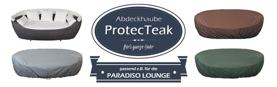 """Atmungsaktive Schutzhülle """"ProtecTeak"""" für die Paradiso Lounge"""