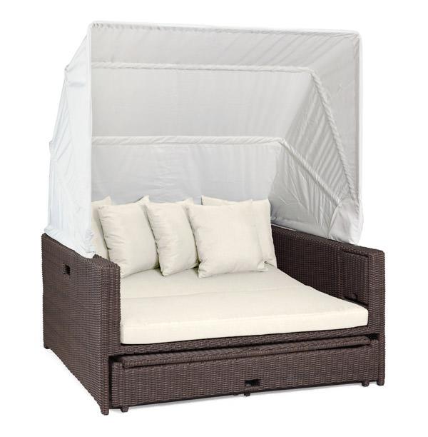 liegeinsel beach lounge cubu croko garten liege polyrattan lounge ebay. Black Bedroom Furniture Sets. Home Design Ideas