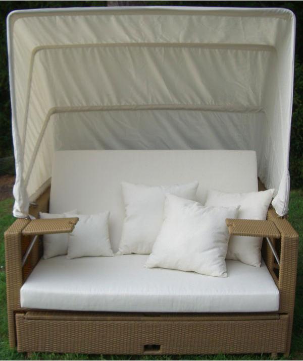 liegeinsel beach lounge natur garten liege polyrattan lounge polyrattan insel ebay. Black Bedroom Furniture Sets. Home Design Ideas