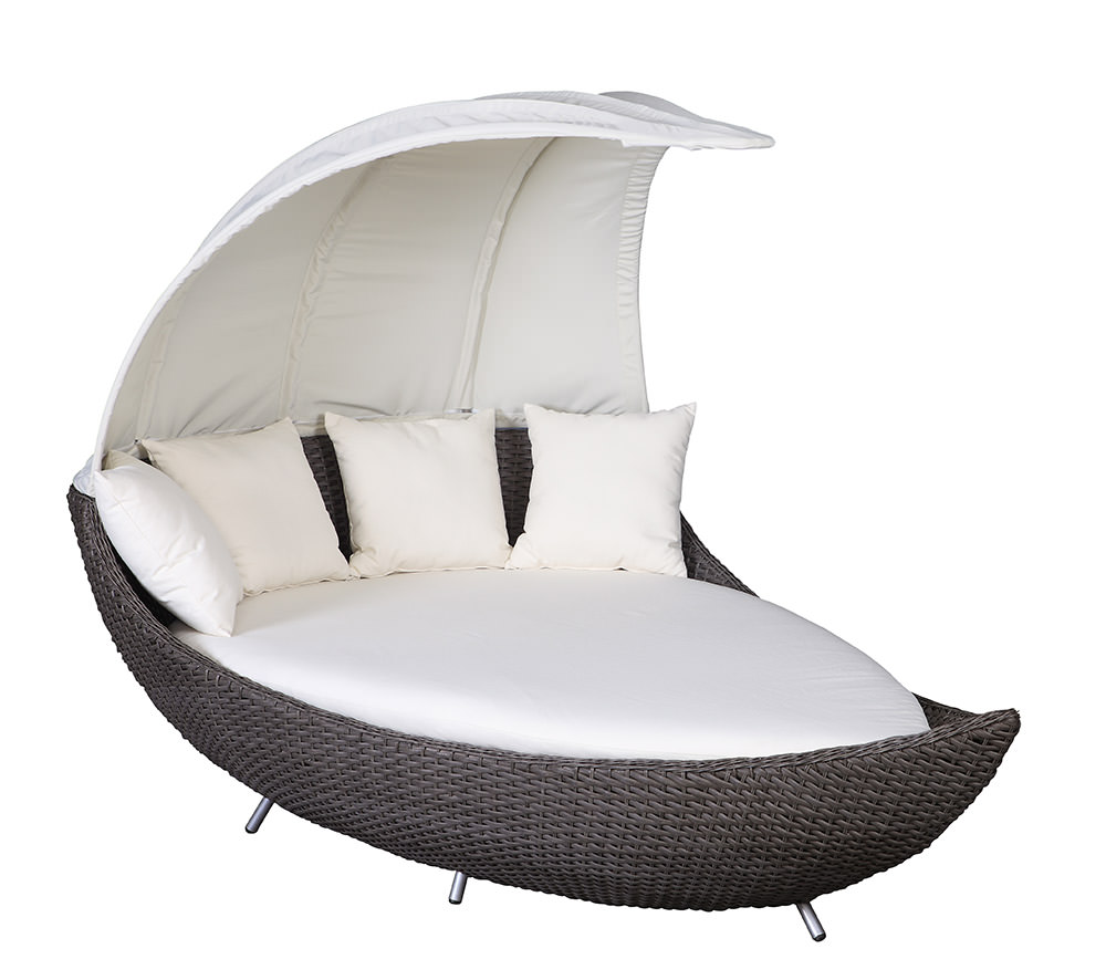 liegeinsel crescent chai duo garten liege polyrattan lounge insel domus ventures ebay. Black Bedroom Furniture Sets. Home Design Ideas