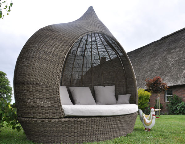 liegeinsel eye catcher cubu olive einseitig offen garten liege polyrattan lounge. Black Bedroom Furniture Sets. Home Design Ideas