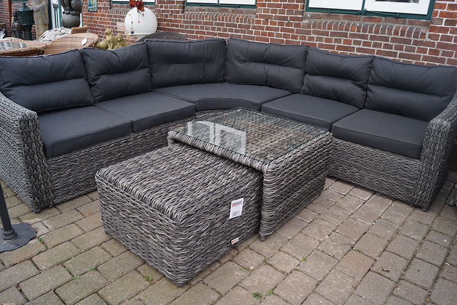 polyrattan garten loungegruppe husum. Black Bedroom Furniture Sets. Home Design Ideas