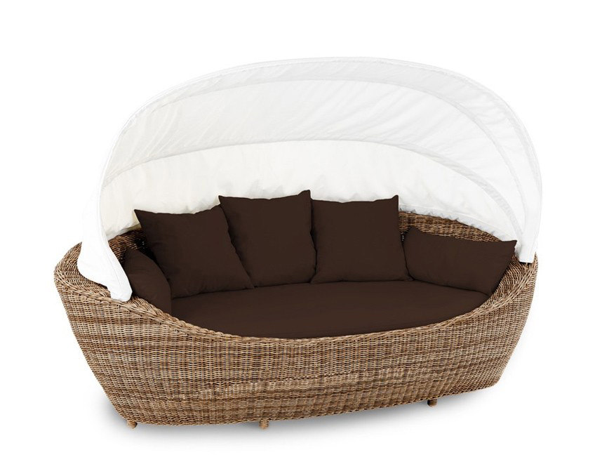 liegeinsel paradiso mixed beige garten liege polyrattan lounge domus ventures ebay. Black Bedroom Furniture Sets. Home Design Ideas