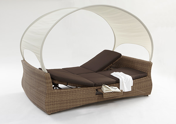sonnenliege rantum double sunlounger mixed beige lounge liege domus ventures neu ebay. Black Bedroom Furniture Sets. Home Design Ideas