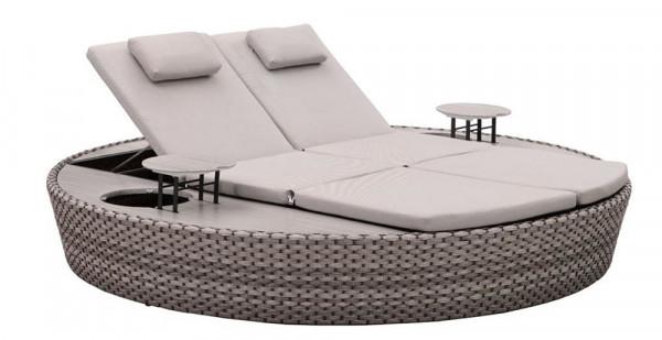 Liegeinsel Carbo Lounge grau - 360°-Drehtechnik
