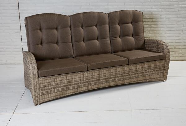 3-Sitzer Living Sofa Turin Natur Geflecht