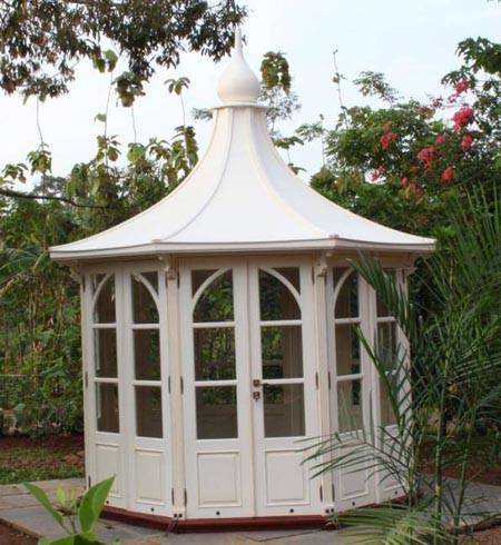 "Das Gartenhaus / Gazebo ""Leeds"", Mahagoni"