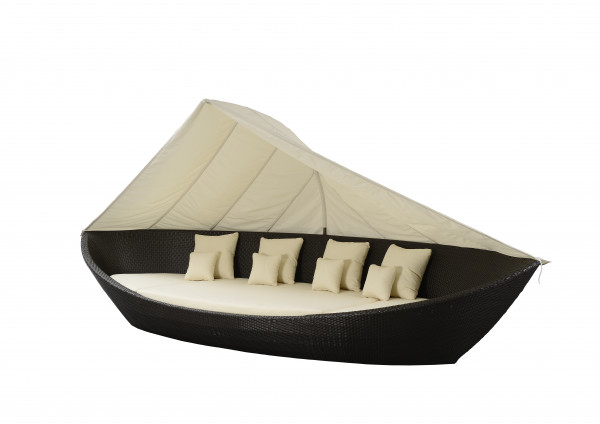 Liegeinsel Boat Daybed Coffee