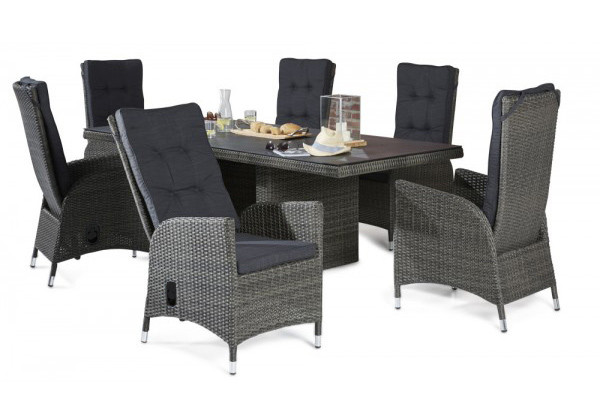 Tischgruppe Barcelona 2018 Grau Mix Tisch 6 Stühle