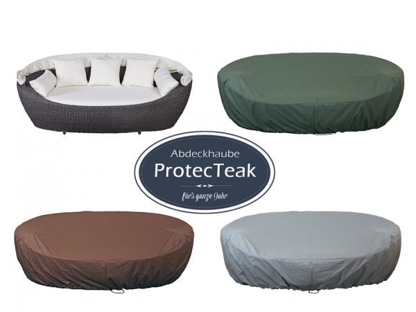 ProtecTeak Schutzhülle für die Sonneninsel Paradiso Lounge, Ganzjahres-Abdeckhaube, atmungsaktiv