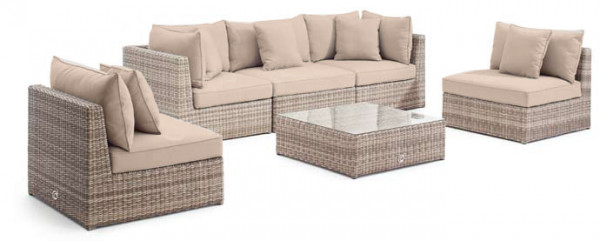 Loungegruppe Delmar White Pepper
