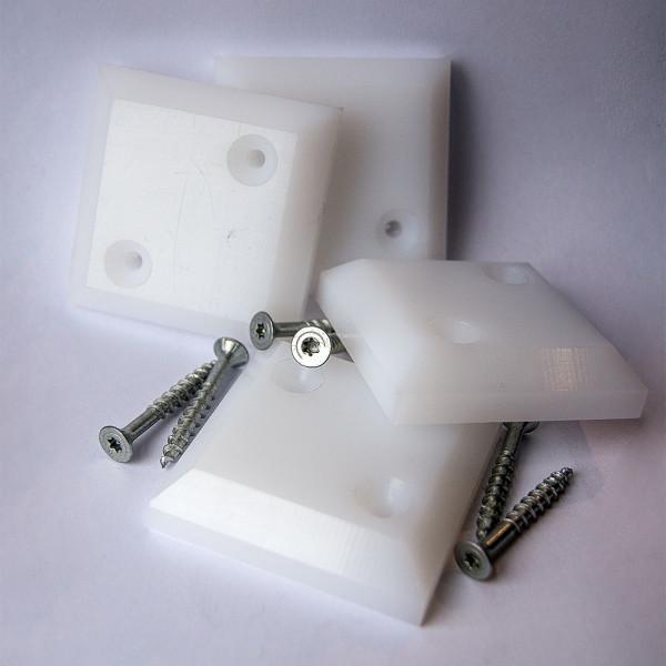 Strandkorb PE-Gleiter - 4er Set inkl. Edelstahl-Schrauben