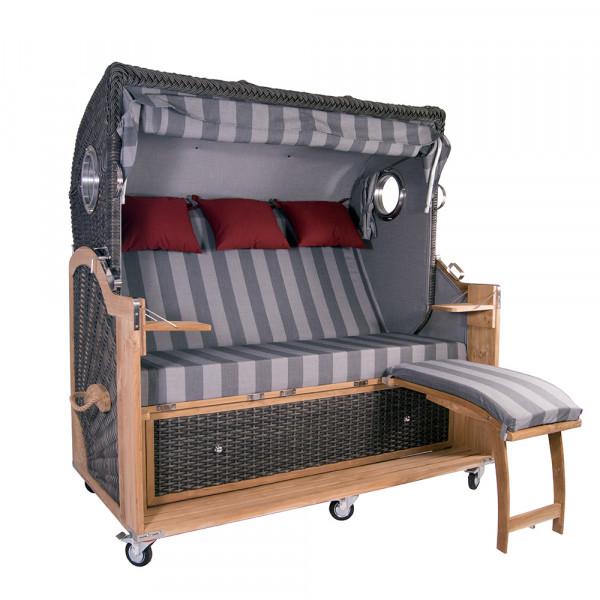 Strandkorb Kampen Spezial 3-Sitzer Mocca