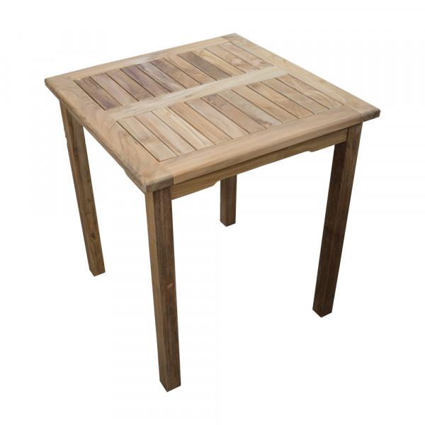 Teakholz Gartentisch rechteckig 80x80
