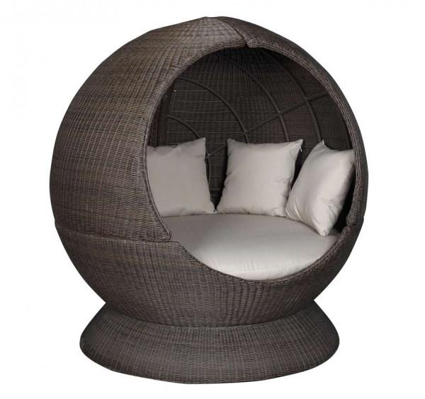 Sonneninsel Nest Lounge einseitig offen Halbprofil
