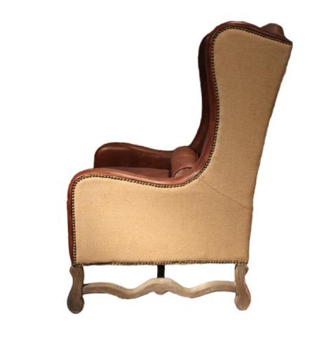 ohrensessel alton mb echtleder leder ledersessel braun vintage sessel jute neu ebay. Black Bedroom Furniture Sets. Home Design Ideas