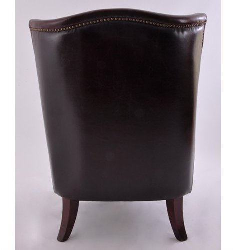 Ohrensessel blackwood pu leder ledersessel schwarz vintage for Ohrensessel schwarz leder