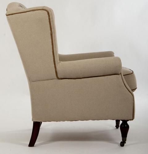 ohrensessel eiffel leinen jute jutesessel creme vintage sessel stoff sessel neu ebay. Black Bedroom Furniture Sets. Home Design Ideas