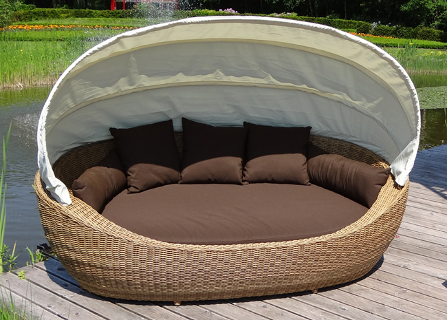 paradiso lounge liege sonneninsel liegeinsel domus ventures garten polyrattan mb ebay. Black Bedroom Furniture Sets. Home Design Ideas