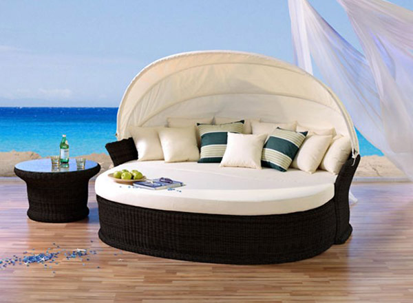 venus lounge sonneninsel liegeinsel garten polyrattan liege domus ventures coffe ebay. Black Bedroom Furniture Sets. Home Design Ideas