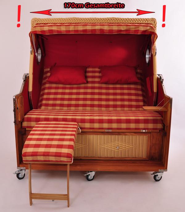 luxus volllieger teak pe strandkorb kampen spezial 3 sitzer xxl gartenm bel neu ebay. Black Bedroom Furniture Sets. Home Design Ideas